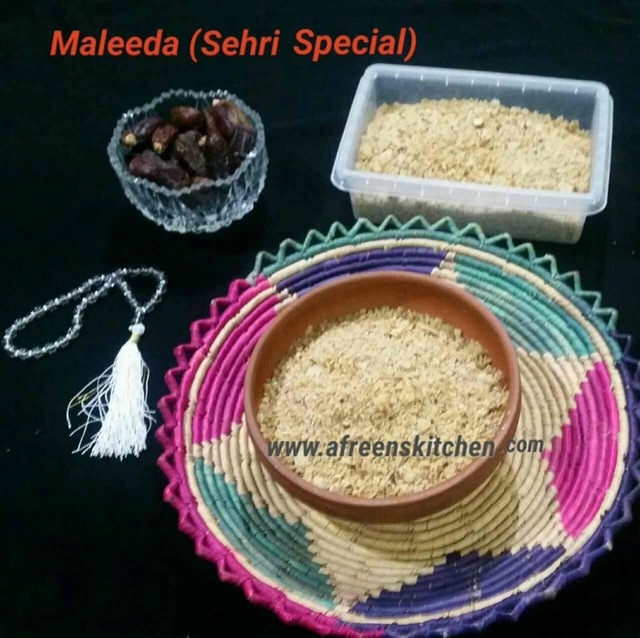 Maleeda(Sehri Special)Guest post