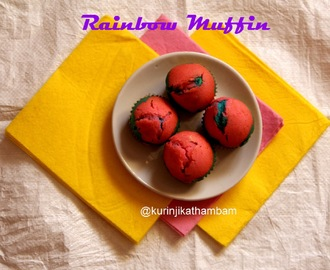 Eggless Rainbow ( Multi Color) Muffin