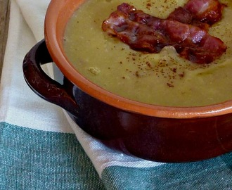 Zuppa di Porri, Patate e Bacon