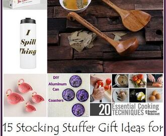 15 Stocking Stuffer Gift Ideas for People Who are Foodies, Cooks, or Like to Eat