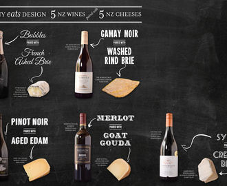 5 NZ Wines paired with 5 NZ Cheeses