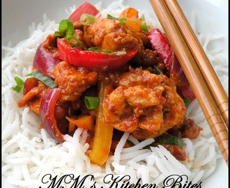 Sweet and Spicy Stir Fried Chicken..and the magic ingredients is...