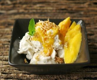 Mango and coconut gelato