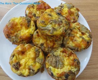 Bacon, mushroom and sun dried tomato egg muffins