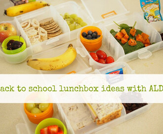 back to school : lunchbox ideas with Aldi
