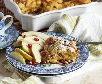 Brioche French Toast Casserole with Fruit and Nuts and an ALDI Giveaway