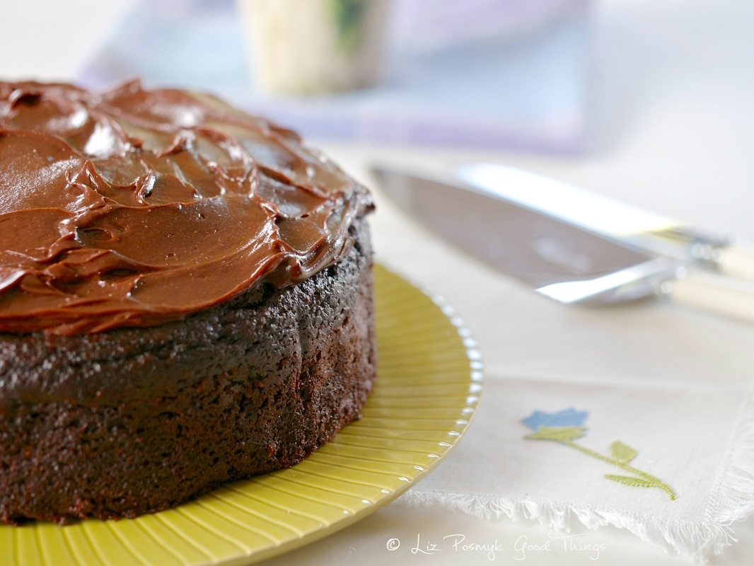 Chocolate beetroot cake with sour cream chocolate frosting