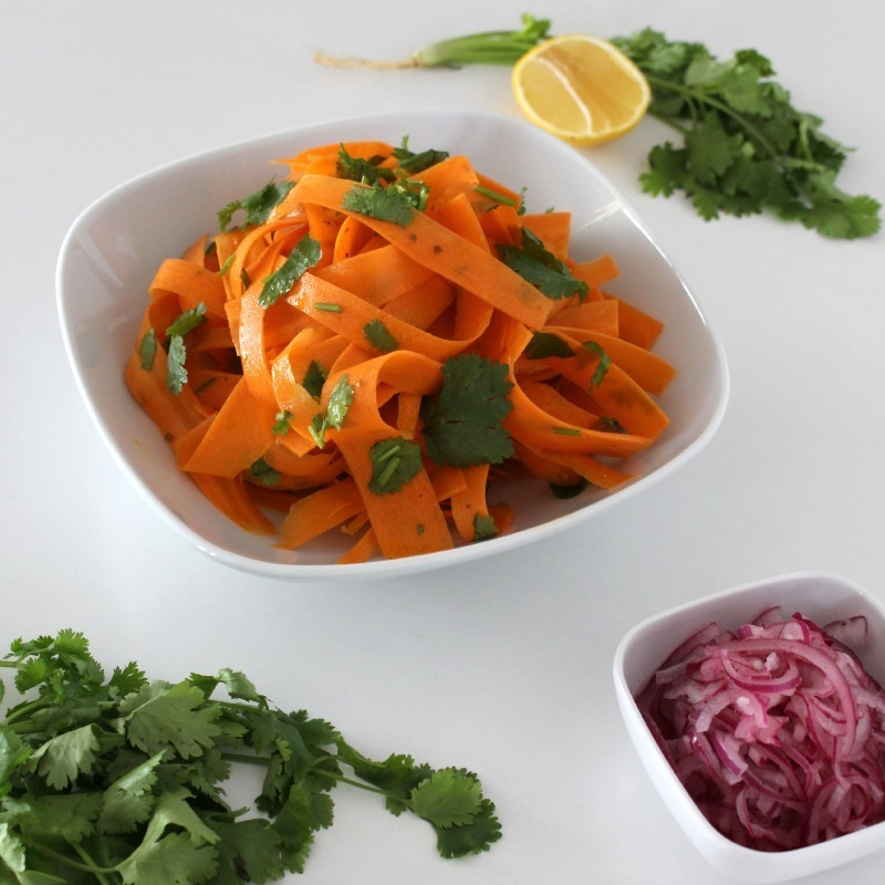 Simple Salad Series: Carrot Salad with Onion Pickle