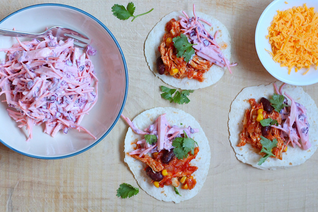 Pulled chicken taco's uit Feel Good Food