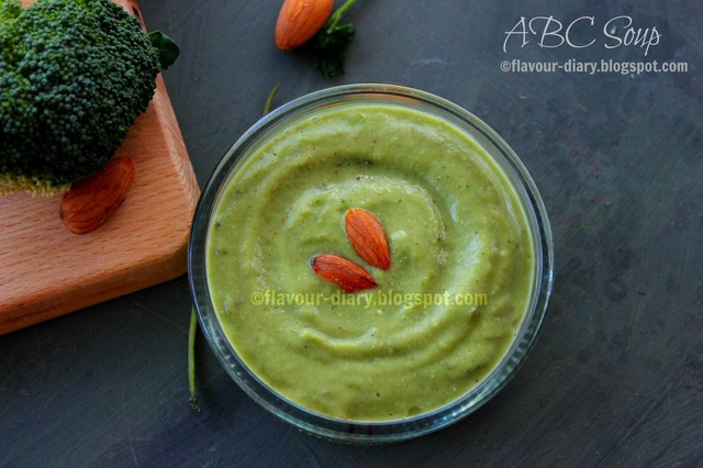 ABC Soup | Almond Broccoli Coriander Soup Recipe |  Dairy Free | Easy Veg Recipes