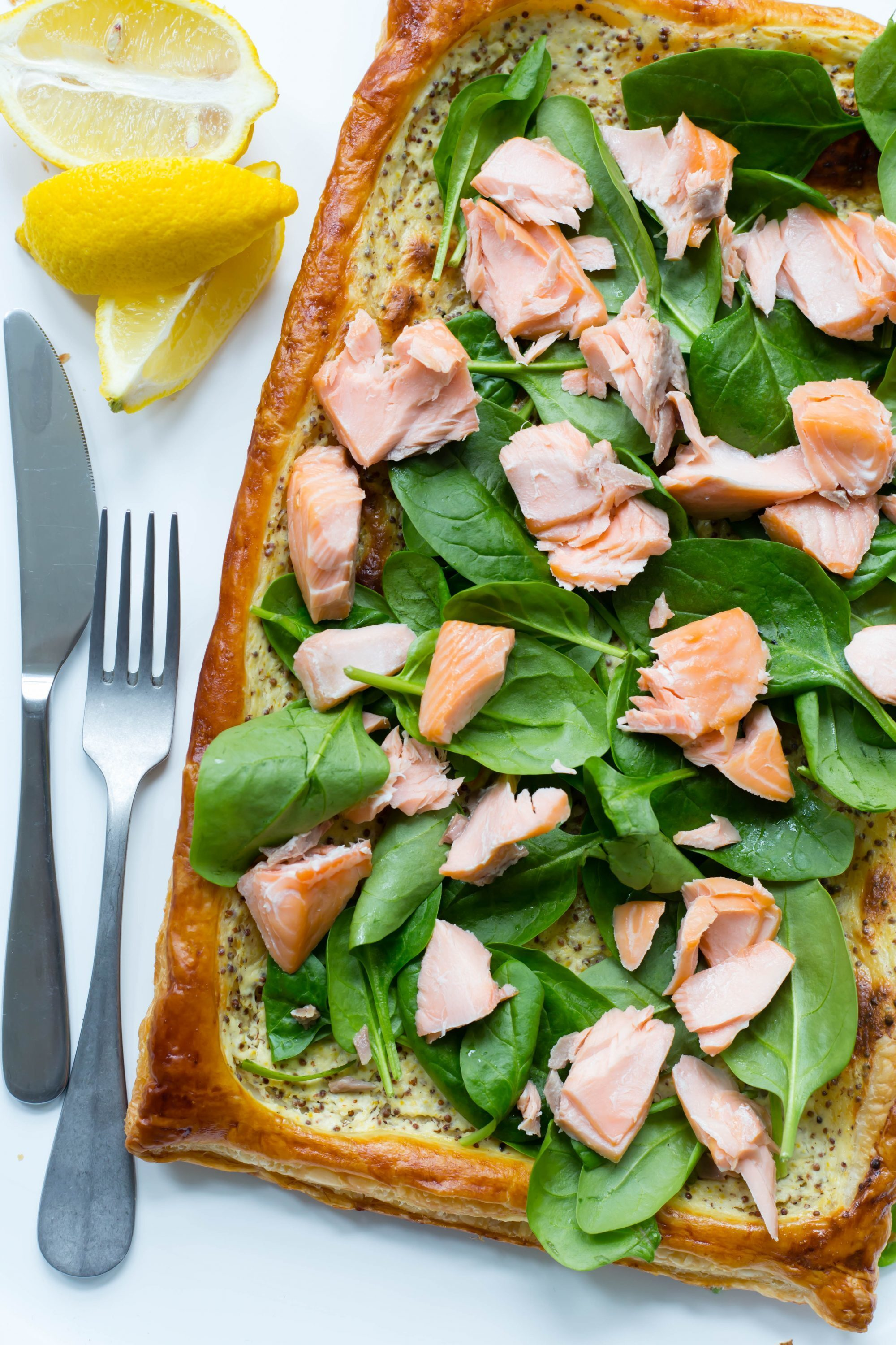 Thermomix Salmon Spinach Tart
