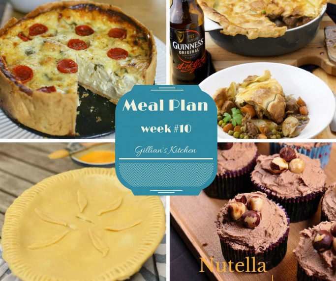 Weekly Meal Plan (Week 10)