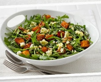 Pumpkin, Feta, Pine Nut and Rocket Salad