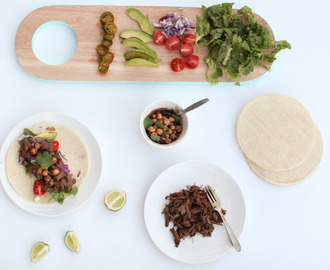 Slow cooker Mexican beef tacos