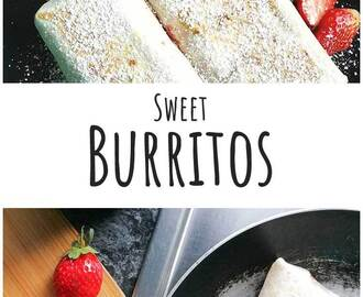 Breakfast Sweet Burritos with Strawberries and Cheese