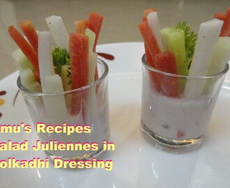 Salad Juliennes in Solkadhi Dressing