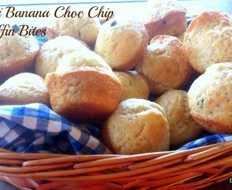 Mini Banana Choc Chip Muffin Bites