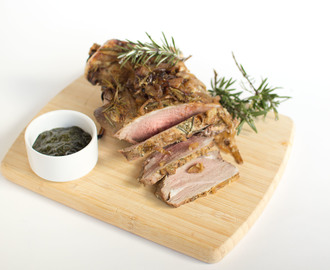 Roasted Lamb with Caramalised Onion