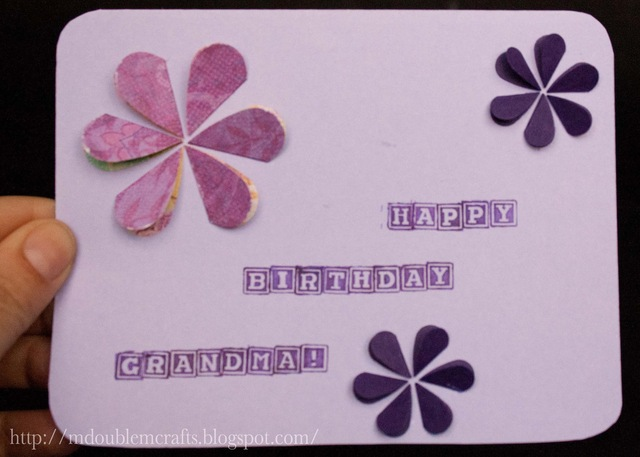 A birthday card for Grandma.