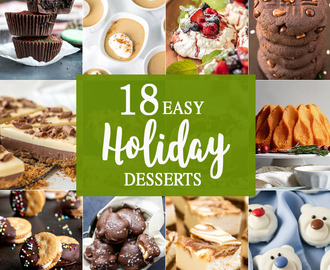 18 Easy Holiday Desserts