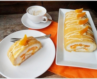 Bake and Roll - Biskuitroulade mit Mandarinencreme (GF & Low Carb)