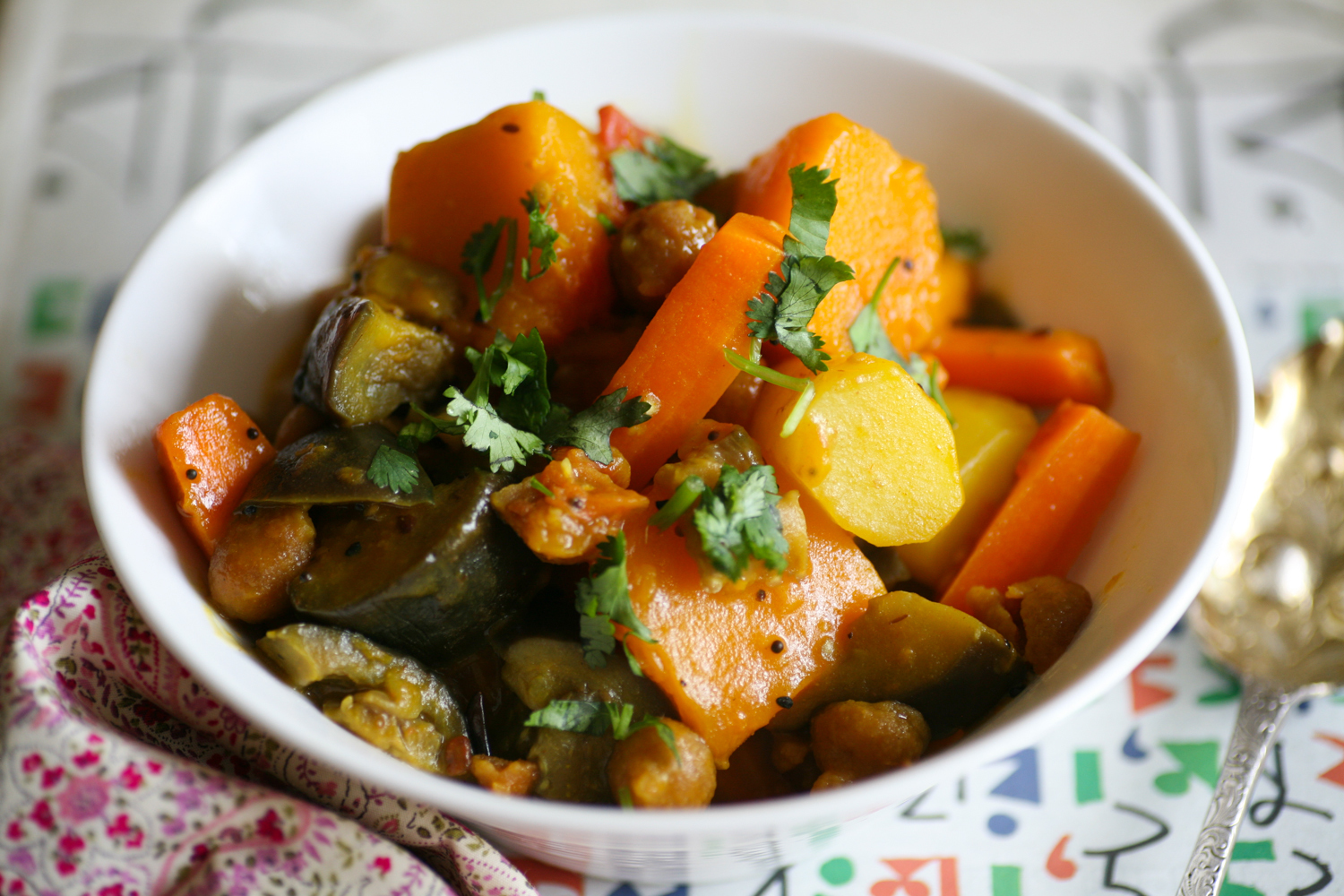 Bengali Vegetable Curry with Lentil Kisses