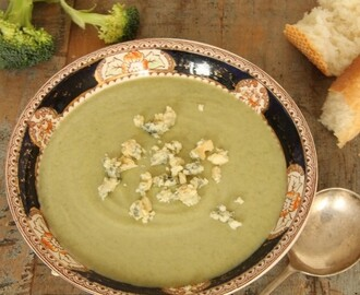 Cauliflower, Broccoli & Blue Cheese Soup