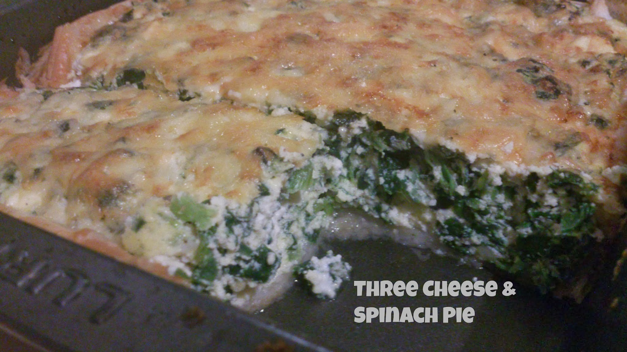 Three cheese & spinach pie