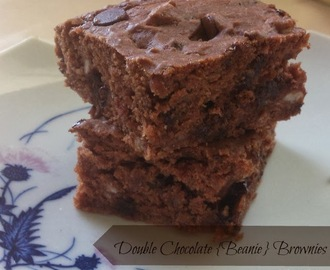 Double chocolate {beanie} brownies