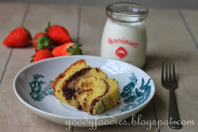 Recipe: Marble Butter Cake