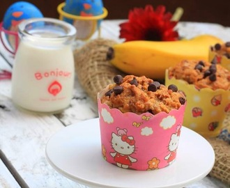 Recipe: Moist Banana Muffins with Chocolate Chips (Nigella Lawson)
