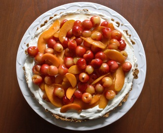 Fresh Cherry Apricot Tart