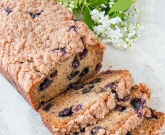 Eggless Blueberry Banana Bread (video)