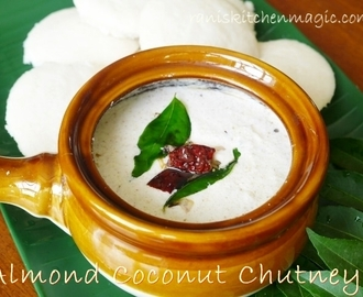 Almond Coconut Chutney (Badam Coconut Chammanthi Curry)