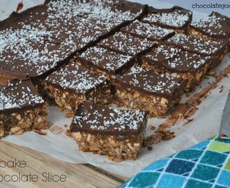 No-bake Chocolate Peanut Slice