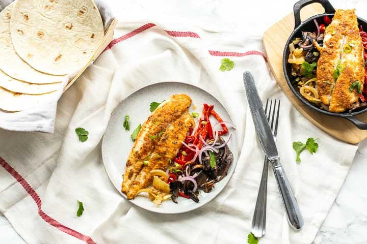 Fish fajitas with panga fillets