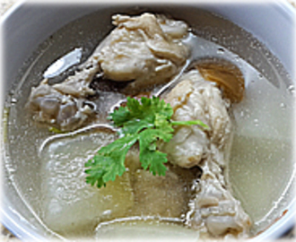 CHICKEN SOUP WITH PICKLE LIME AND WINTER MELON