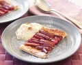 Honey rhubarb tart with vanilla and cinnamon yoghurt