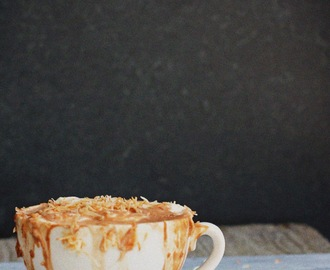 Coconut Hot Chocolate Latte with Whipped Coconut Cream