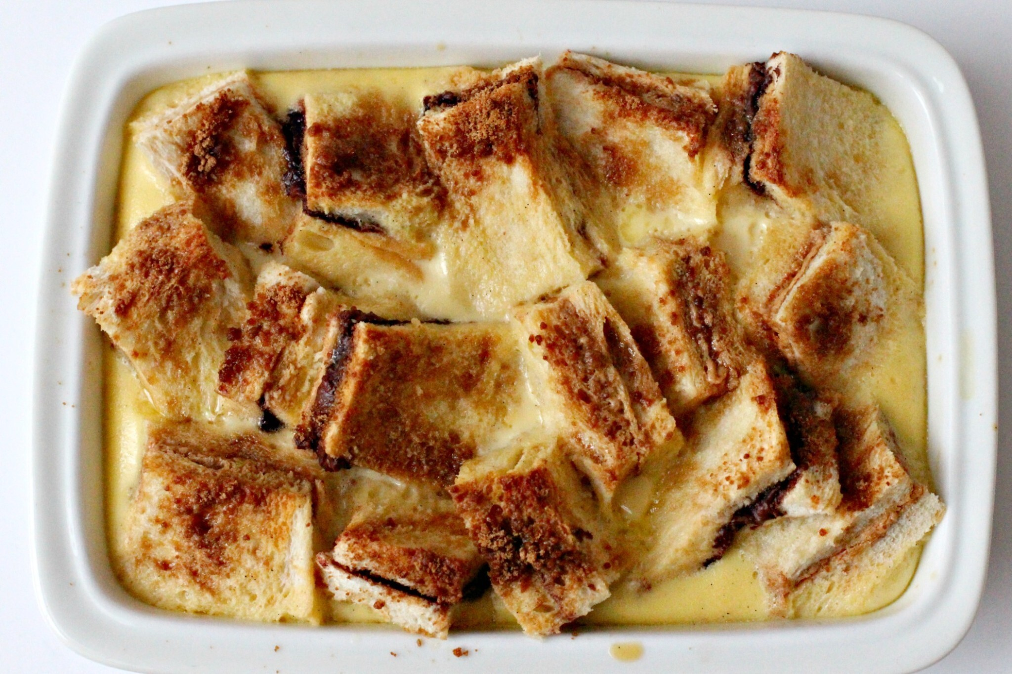 PB & N (for Nutella) Bread and Butter Pudding