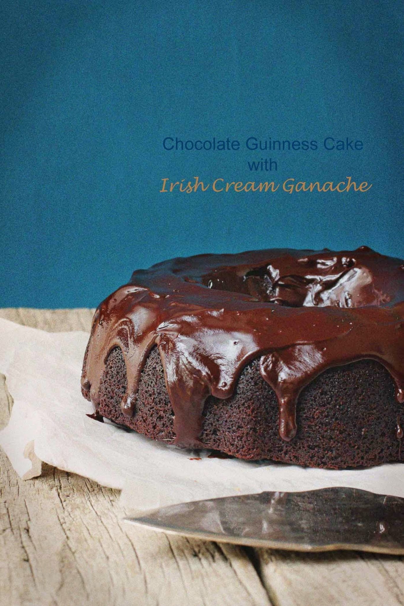 Chocolate Guinness Cake with Irish Cream Ganache