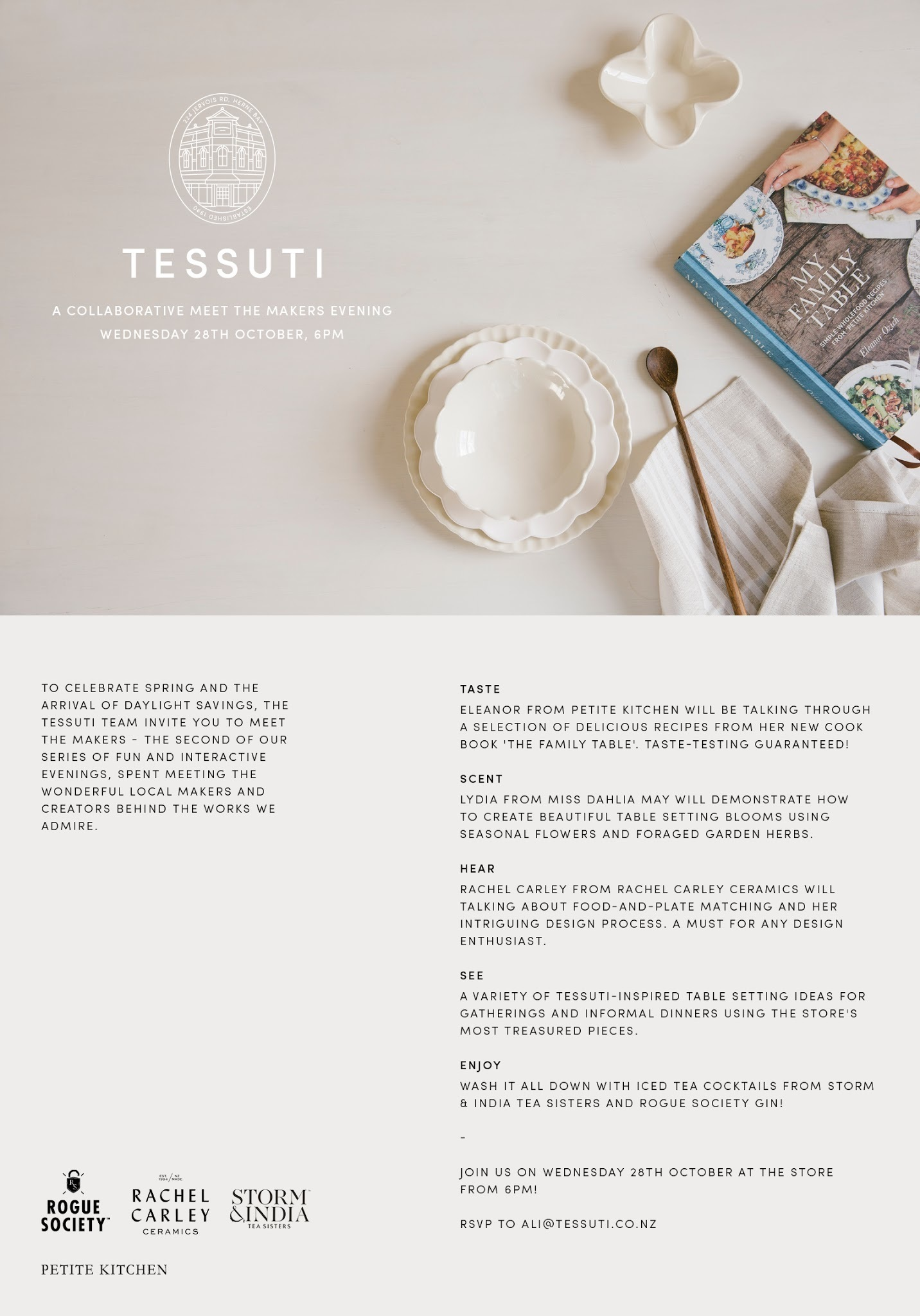 MEET THE MAKERS EVENING AT TESSUTI