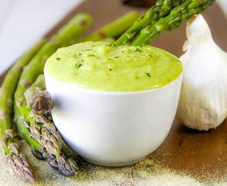 ASPARAGUS DIP with Dijon mustard and white pepper