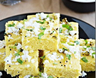 Khaman dhokla (Microwave method)- with Video