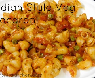 Vegetarian Pasta Recipes, Indian Style Pasta Recipe, Veg Macaroni Recipe