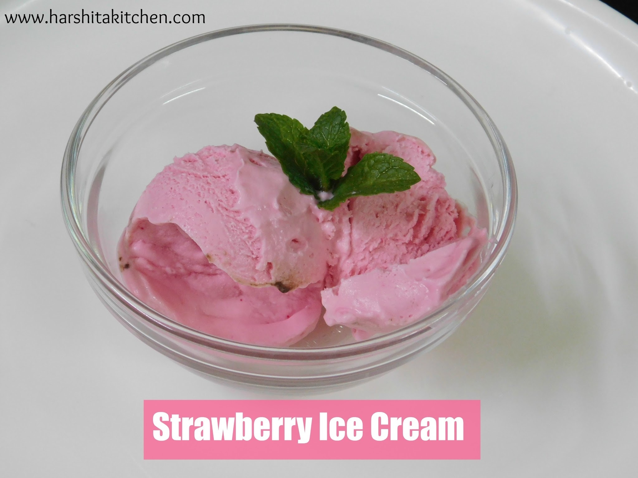 No Churn Strawberry Ice Cream Using Jello, Eggless Strawberry Ice Cream Recipe