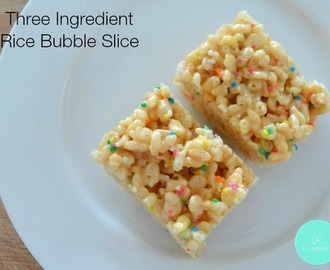 Three Ingredient Rice Bubble Bars