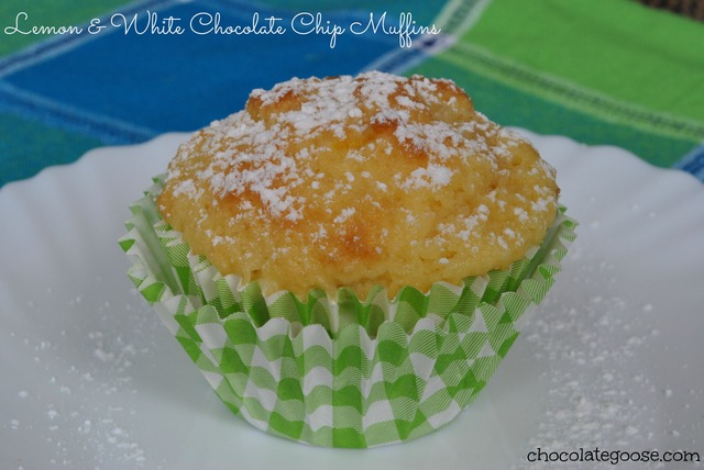 Lemon and White Chocolate Muffins
