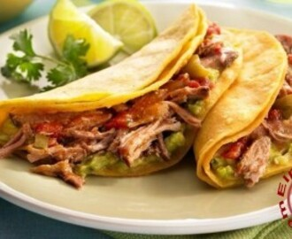 Exquisitos tacos de cerdo