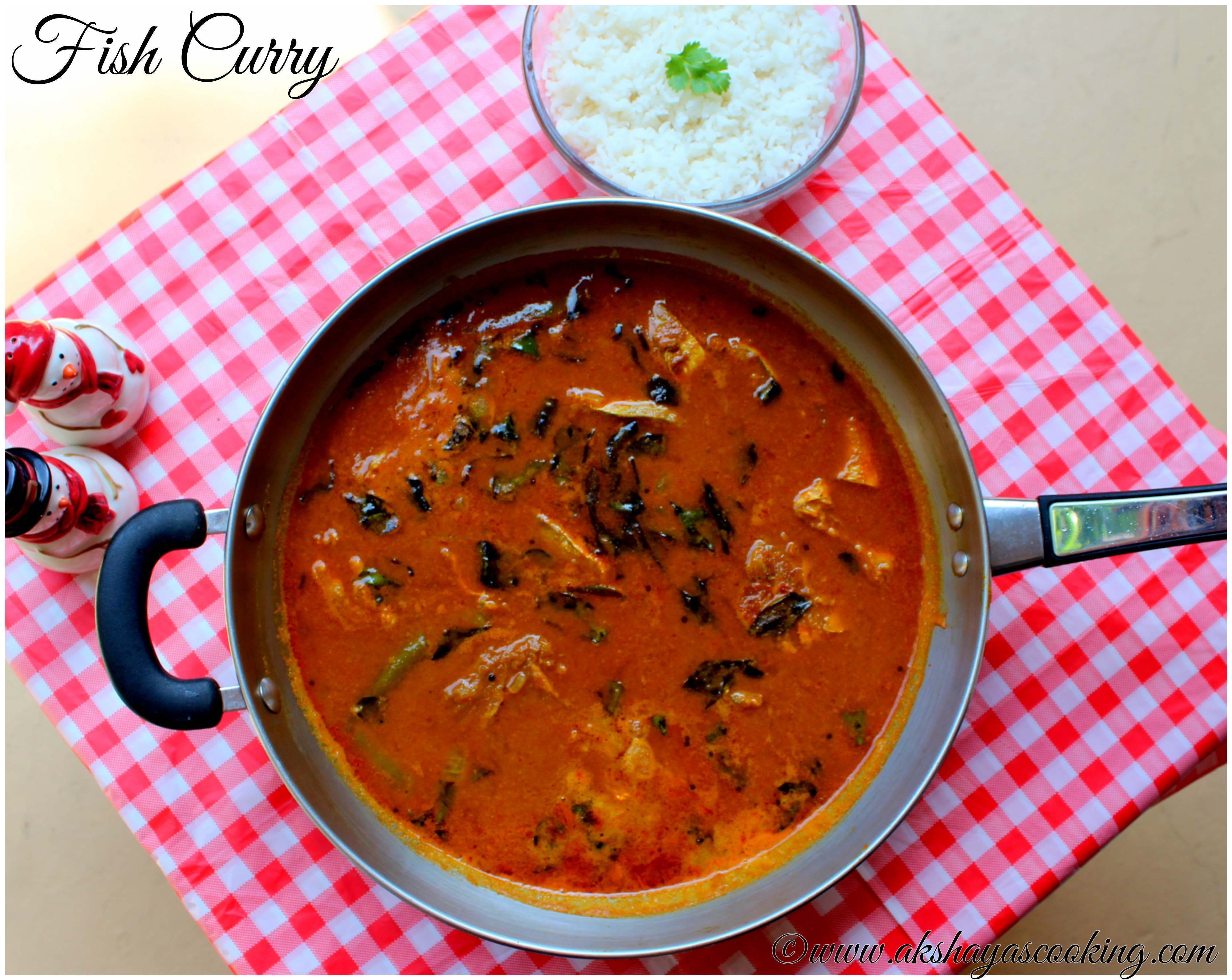 Fish curry with coconut | Golden thread coconut curry